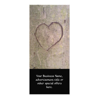 Heart Carved in a Tree Full Color Rack Card