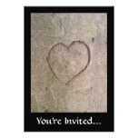 Heart Carved in a Tree Invitations