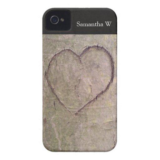 Heart Carved in a Tree iPhone 4 Cover