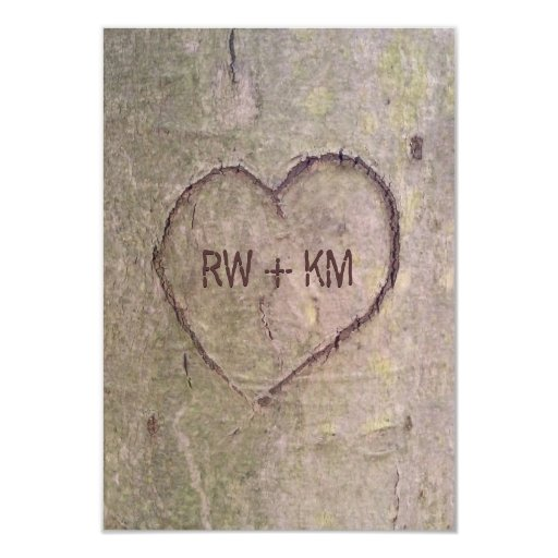 Heart Carved in Tree RSVP Reply Card
