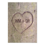 "Heart Carved in Tree Wedding Invitations 5"" X 7"" Invitation Card"