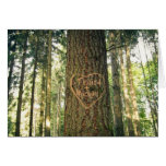 Heart Carved into Tree Anniversary Card