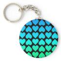 Heart Cascade - Blue keychains