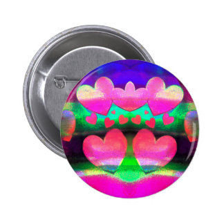 Heart Cascade Pinback Button