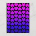 Heart Cascade - Pink Postcard