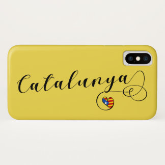 Heart Catalunya Mobile Phone Case, Catalonia iPhone X Case