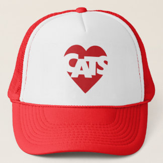 Heart Cats Trucker Hat