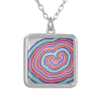 Heart Cell Square Pendant Necklace