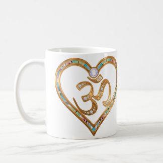 Heart centered in OM Coffee Mug