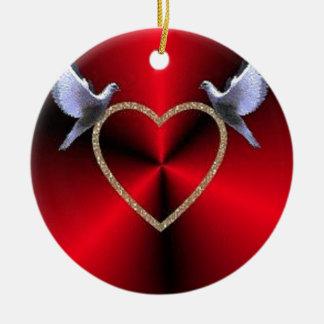 Heart Ceramic Ornament
