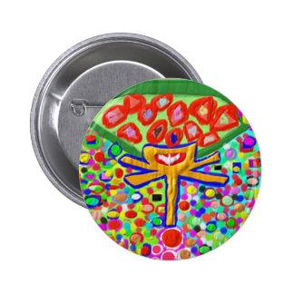 Heart Chakra 2 Inch Round Button