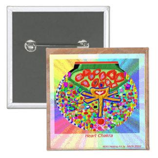 Heart Chakra 2 Inch Square Button