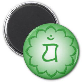 Heart Chakra - Anahata 2 Inch Round Magnet