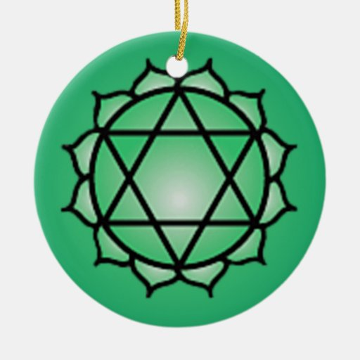 Heart Chakra Christmas Ornament