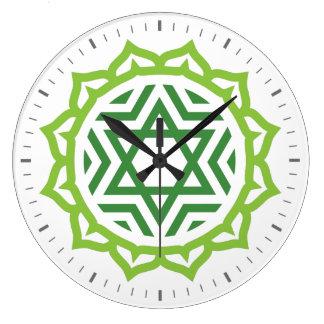 Heart Chakra Energy Wall Clock