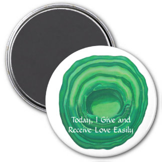Heart Chakra Healing Art - #1 - Relationships 3 Inch Round Magnet