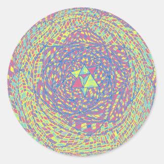 Heart Chakra Mandala Classic Round Sticker