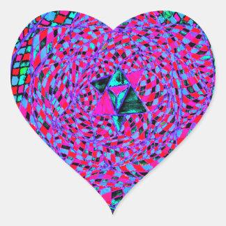 Heart Chakra Mandala Heart Sticker