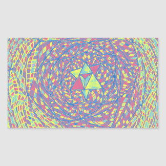 Heart Chakra Mandala Rectangular Sticker