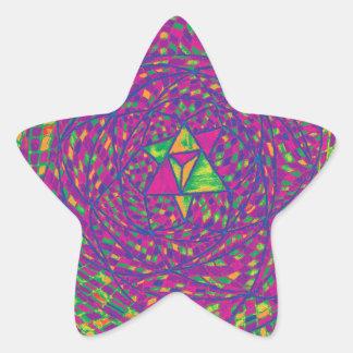 Heart Chakra Mandala Star Sticker