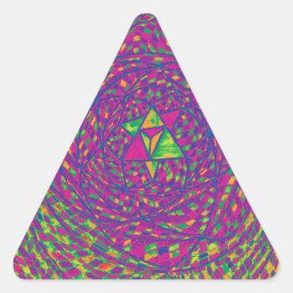 Heart Chakra Mandala Triangle Sticker