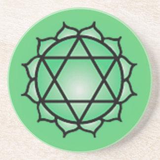 Heart Chakra Sandstone Drink Coaster