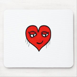 Heart Character Drawing Mouse Pad