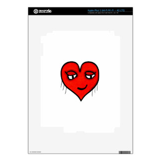 Heart Character Drawing Skin For iPad 3