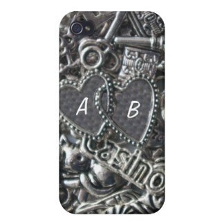Heart charms case for iPhone 4