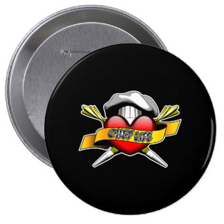 Heart Chef Life: Pastry Chef Pinback Button