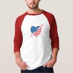 Heart Chess Patriot Tee Shirt