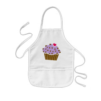 Heart Choco Chip Blueberry Cupcake Kids' Apron