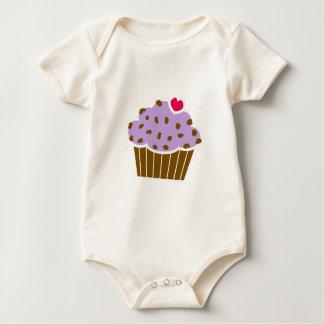 Heart Choco Chip Blueberry Cupcake Romper