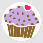 Heart Choco Chip Blueberry Cupcake Stickers