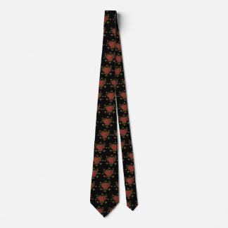 Heart Chocolate Pattern Tie