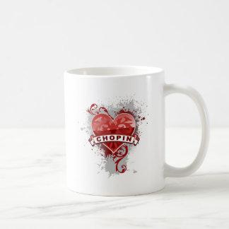 Heart Chopin Coffee Mugs