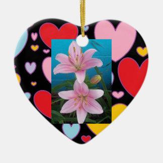 Heart Christmas Orniment Double-Sided Heart Ceramic Christmas Ornament