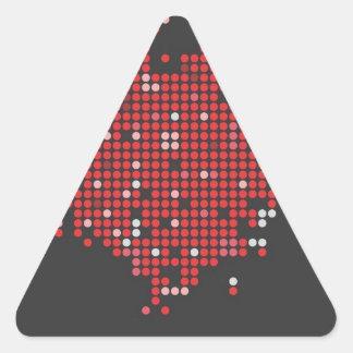 Heart Circle Cool Custom Graphic Design Styles Triangle Sticker