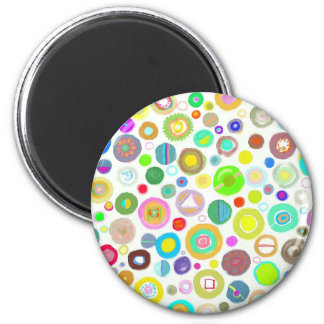 HEART CIRCLES 2 INCH ROUND MAGNET
