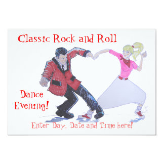 Heart Classic Rock and Roll  Jive Dancing Personalized Announcement