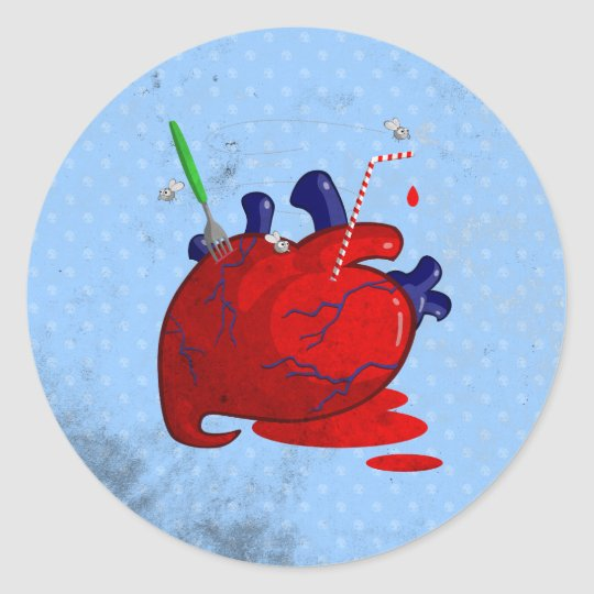 Heart Classic Round Sticker