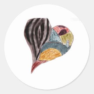 Heart Classic Round Sticker
