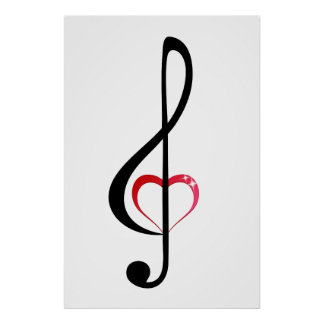Heart clef poster