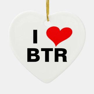 heart_clip_art_01, I, BTR Ceramic Ornament