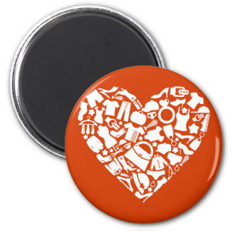 Heart clothes3 magnet
