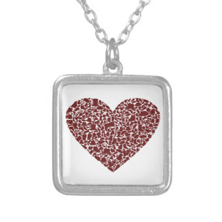 Heart clothes silver plated necklace