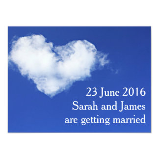 Heart cloud Modern Photo Save the Date Postcard