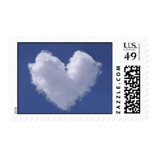 Heart Cloud Postage Stamps