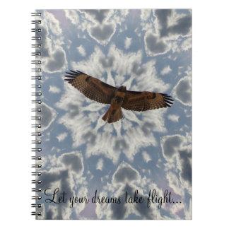 Heart Cloud Red Tailed Hawk Dream Journal Notebooks
