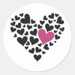 Heart Cloud Round Sticker
